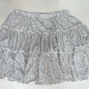 Shein 3XL White Black Polka dot Skirt